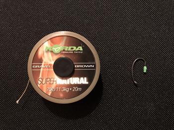 Material für No-Knot Karpfen Rig