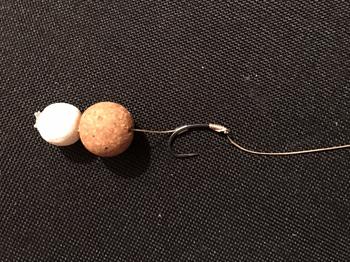 Karpfen Rigs - Snowman Rig mit No-Knot Knoten