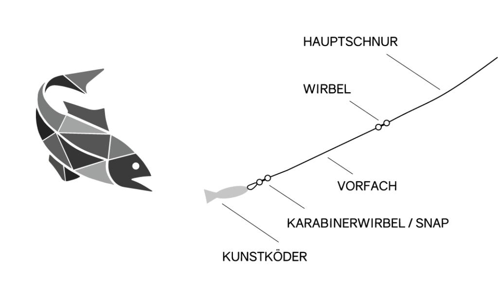 Montage zum Spinnfischen