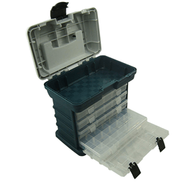 Angelkoffer mit ausziehbaren Boxen
